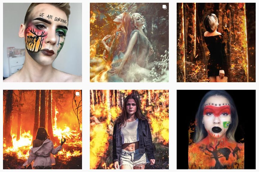 Instagram users use the hashtag #PrayForAmazonia to promote themselves and various
