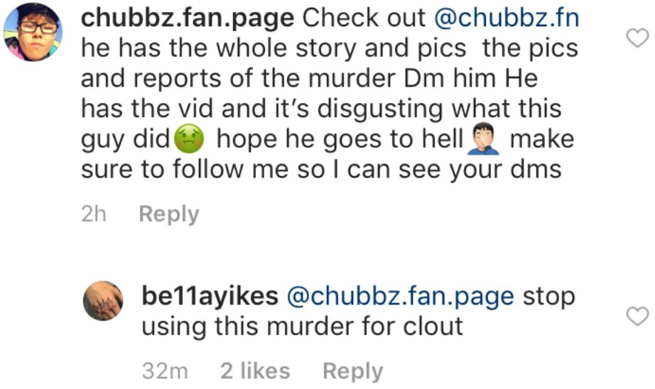 An Instagram scammer tries to capitalize on the murder of a teenage