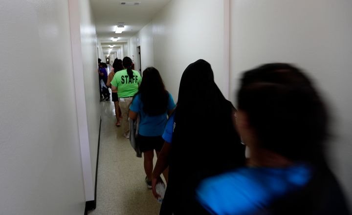 Some migrant girls detained by the U.S. government were given just one sanitary pad per day and not offered a shower or chang