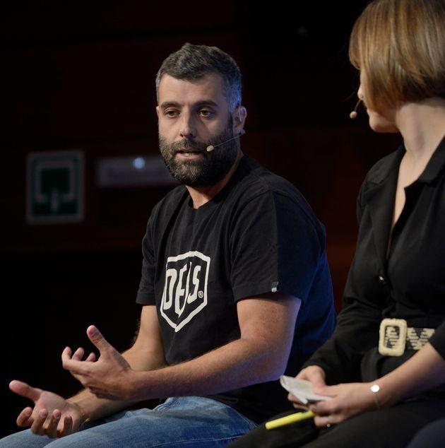 Nacho Carretero durante la presentación de la serie 'En el corredor de la muerte'