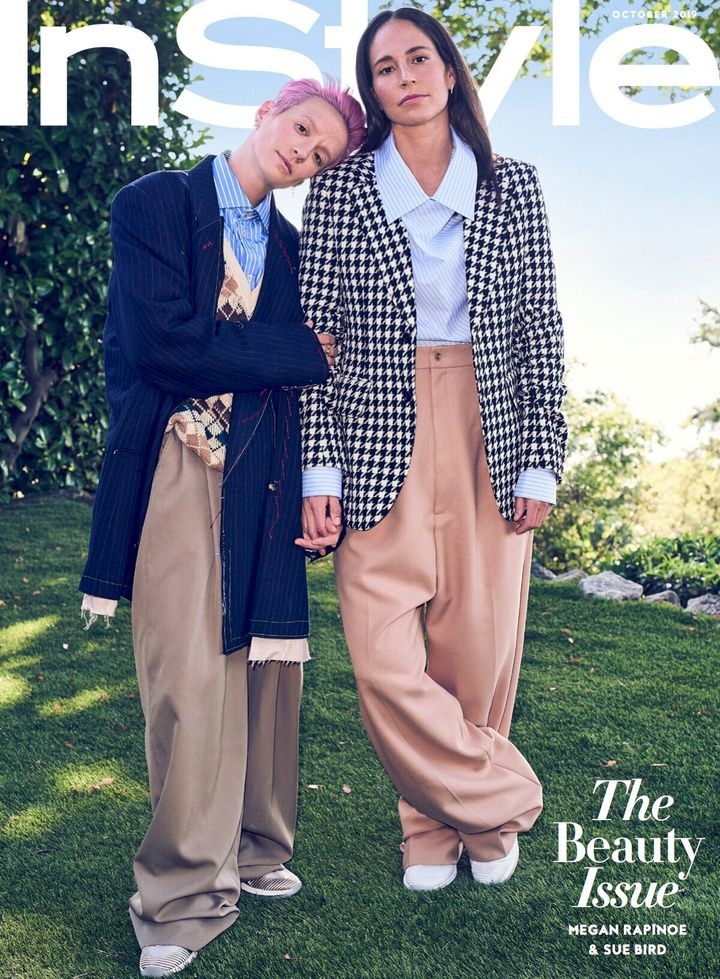Megan Rapinoe and Sue Bird photographed by Beau Grealy. InStyle's October issue goes on sale Sept. 20.
