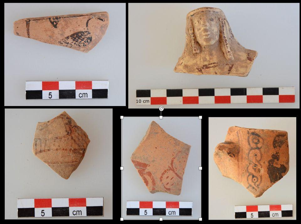 Θραύσματα αγγείων των αρχαϊκών χρόνων από την περιοχή του