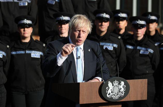 Boris Johnson (ici lors de son discours le 5 septembre) persiste: