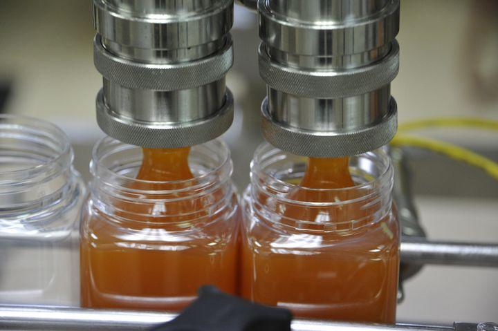 Manuka honey on the production line.