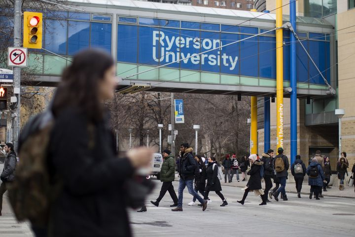Ryerson University campus is seen in Toronto on Jan. 17, 2019.
