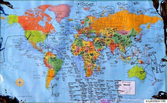 지구의 모든 주권 국가 196개 국을 여행한 첫 여성