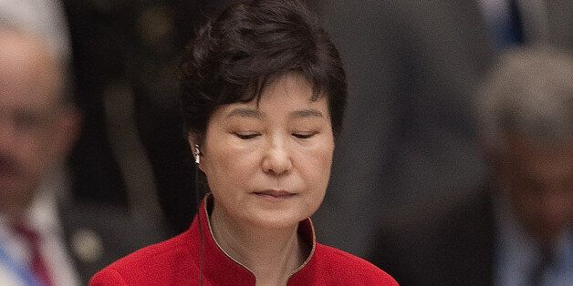 South Korea's President Park Geun-Hye is seated during the opening ceremony of the G-20 Leaders Summit...