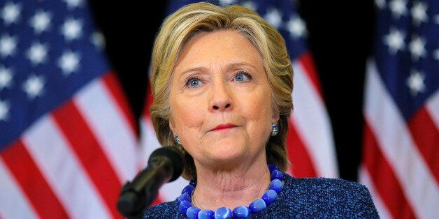 U.S. Democratic presidential nominee Hillary Clinton holds an unscheduled news conference to talk about...
