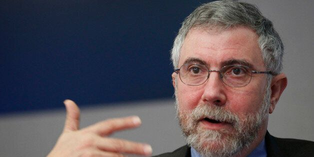 Nobel Prize winning economist Paul Krugman speaks during an interview in New York, May 4, 2012. REUTERS/Brendan...