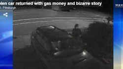 '실수'로 남의 차를 훔친 여자의 선행은