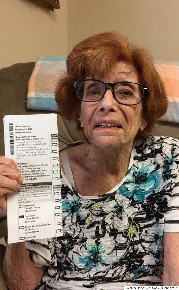 90세 할머니가 마지막 투표를 한 후, 세상을