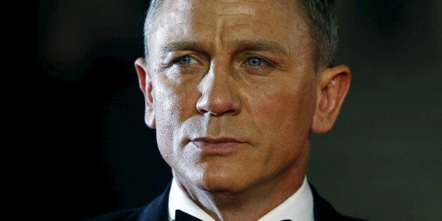 Daniel Craig poses for photographers as he attends the world premiere of the new James Bond 007