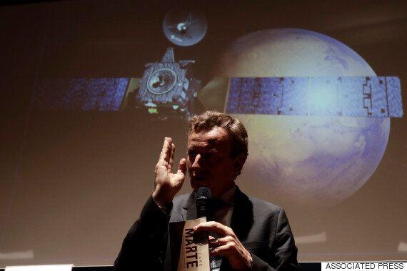 화성 착륙선 '스키아파렐리'가 착륙 직전에