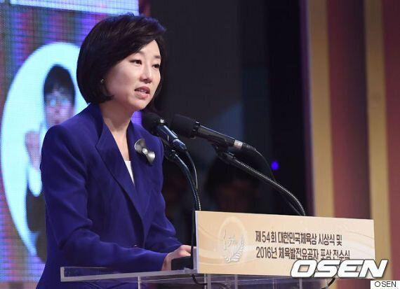 박인비와 김연아가 대한민국체육상 시상식에 참석했다