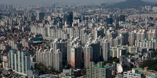Part of Gangnam area is seen in Seoul October 2, 2012. Gangnam is the most upmarket neighbourhood in...