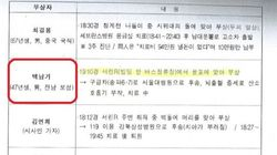 경찰이 폐기했다던 '백남기 농민 상황속보' 문서는 존재하는 것으로 드러났다(문서