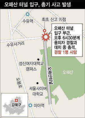 '서울 오패산 총격사건' 범인은 페이스북에 범행을 암시하는 글을
