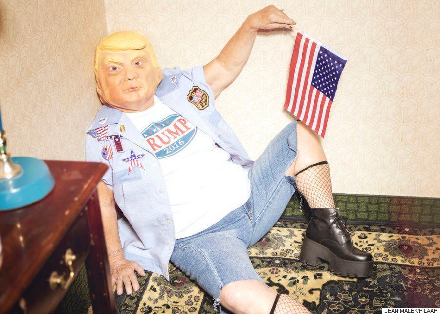 트럼프의 언행을 단적으로 보여주는 사진을 찍었고, '호러'가