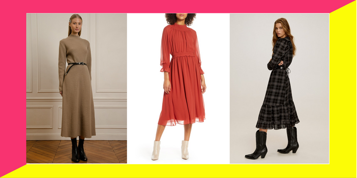 The best midi dresses for fall 2019.