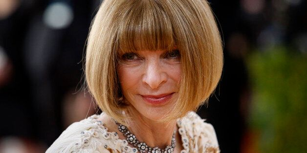 Anna Wintour, editor-in-chief of American Vogue magazine, arrives at the Metropolitan Museum of Art Costume...