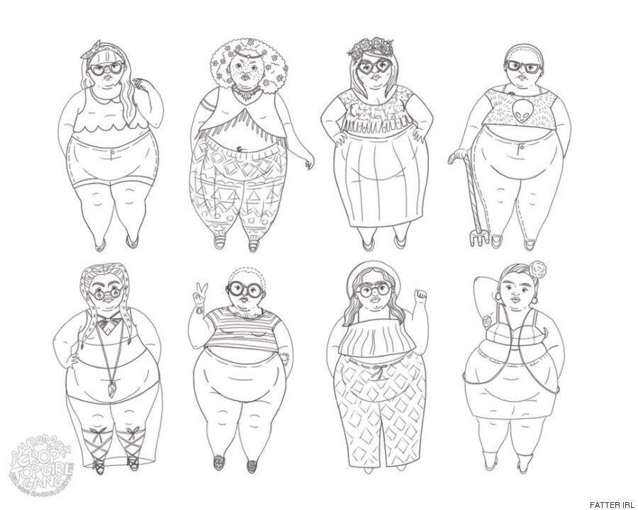 크고 아름다운 몸을 숭배하고 찬양하기 위해 뚱뚱한 여성 아티스트들이
