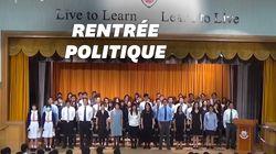 """""""Entendez-vous le peuple?"""": Ces écoliers hongkongais chantent l'hymne des manifestants en pleine"""