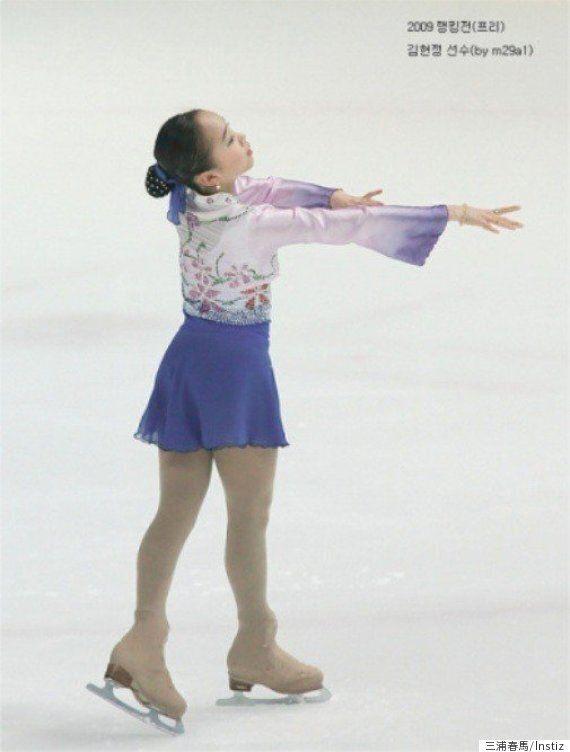 한복을 모티브로 한 의상을 입은 피겨스케이트 선수들 (사진,