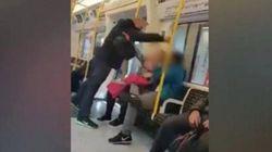 한 남자가 지하철에서 다짜고짜 아시아 승객의 얼굴을 가격했다. 옆자리 여성은 가만히 있지