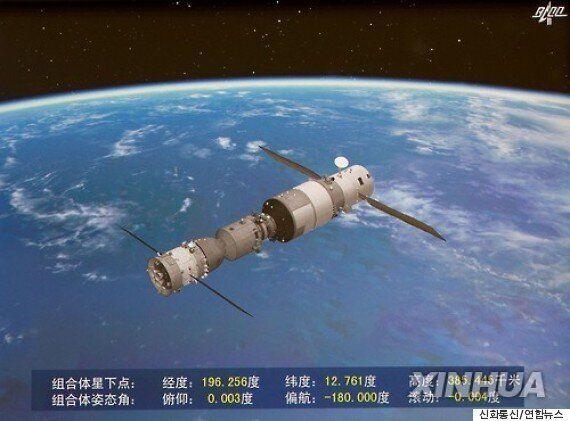 中 선저우 11호, 우주정거장과