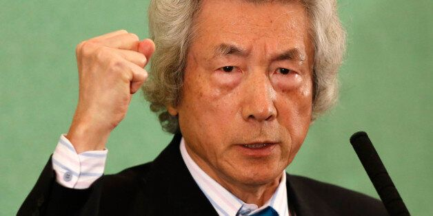 Japan's former Prime Minister Junichiro Koizumi speaks at the Japan National Press Club in Tokyo November...