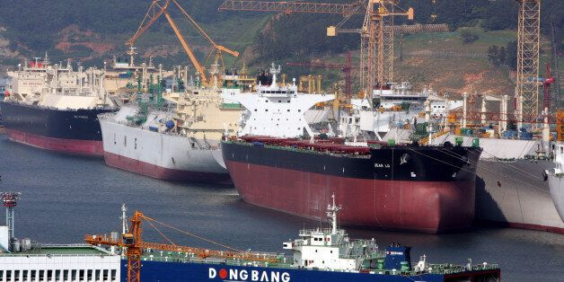 Okpo shipyard of South Korea's Daewoo Shipbuilding & Marine Engineering (DSME) is seen in Koeje island....