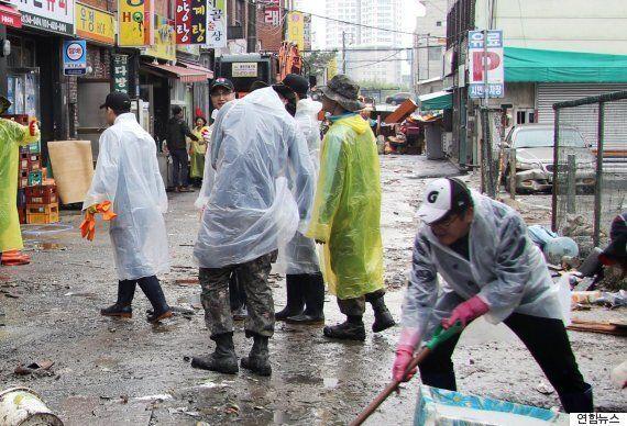 오늘 울산에선 6천 명이 넘는 사람들이 태풍 피해를