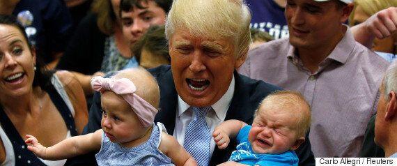 이 아이는 할로윈에 트럼프로 변장하기가 끔찍이도