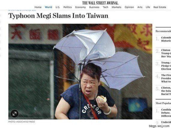 이 여성은 태풍에 신음하는 대만의 희망이