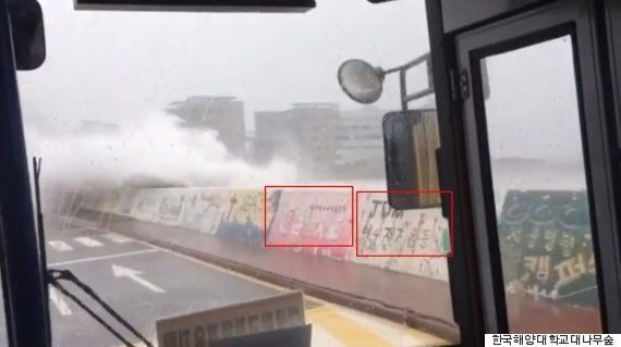 한국해양대학교 셔틀버스를 덮친 엄청난