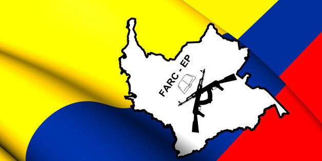 3D Flag of the FARC-EP. Close