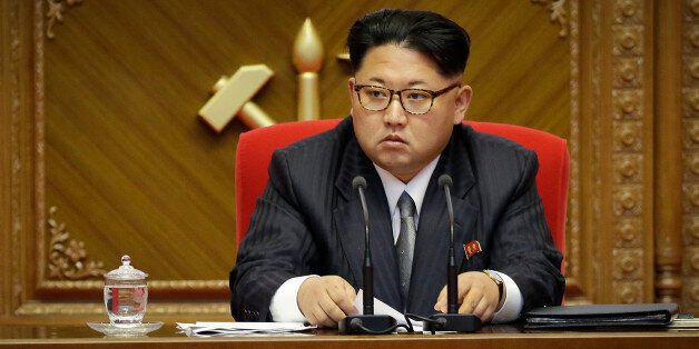 FILE - In this May 9, 2016 file photo, North Korean leader Kim Jong Un listens during the party congress...