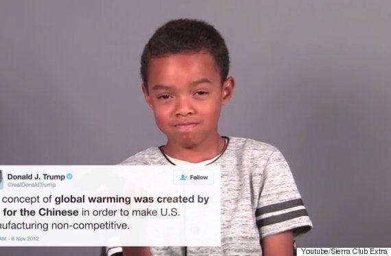 트럼프의 트윗을 읽은 아이들은 어떤 표정을