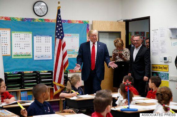 한 초등학생이 트럼프를 보자마자 한 말은 상상을