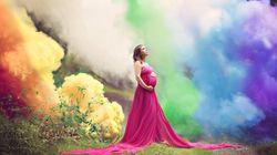 여섯 번의 유산을 경험한 엄마는 정말 아름다운 만삭 사진을