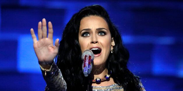 Singer Katy Perry performs during the final day of the Democratic National Convention in Philadelphia,...