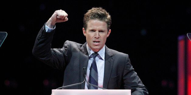 Television personality Billy Bush hosts the CinemaCon Big Screen Achievement Awards show at Caesars Palace...