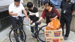 자전거를 훔친 지적장애 어린이에게 경찰이 자전거를