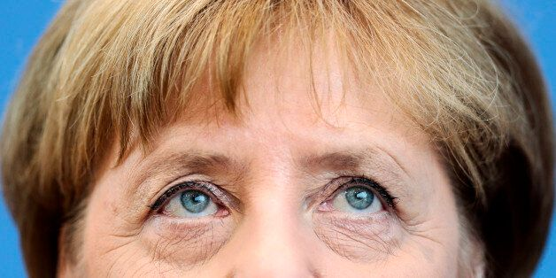 German Chancellor Angela Merkel addresses the media during a news conference in Berlin, Germany, Thursday,...