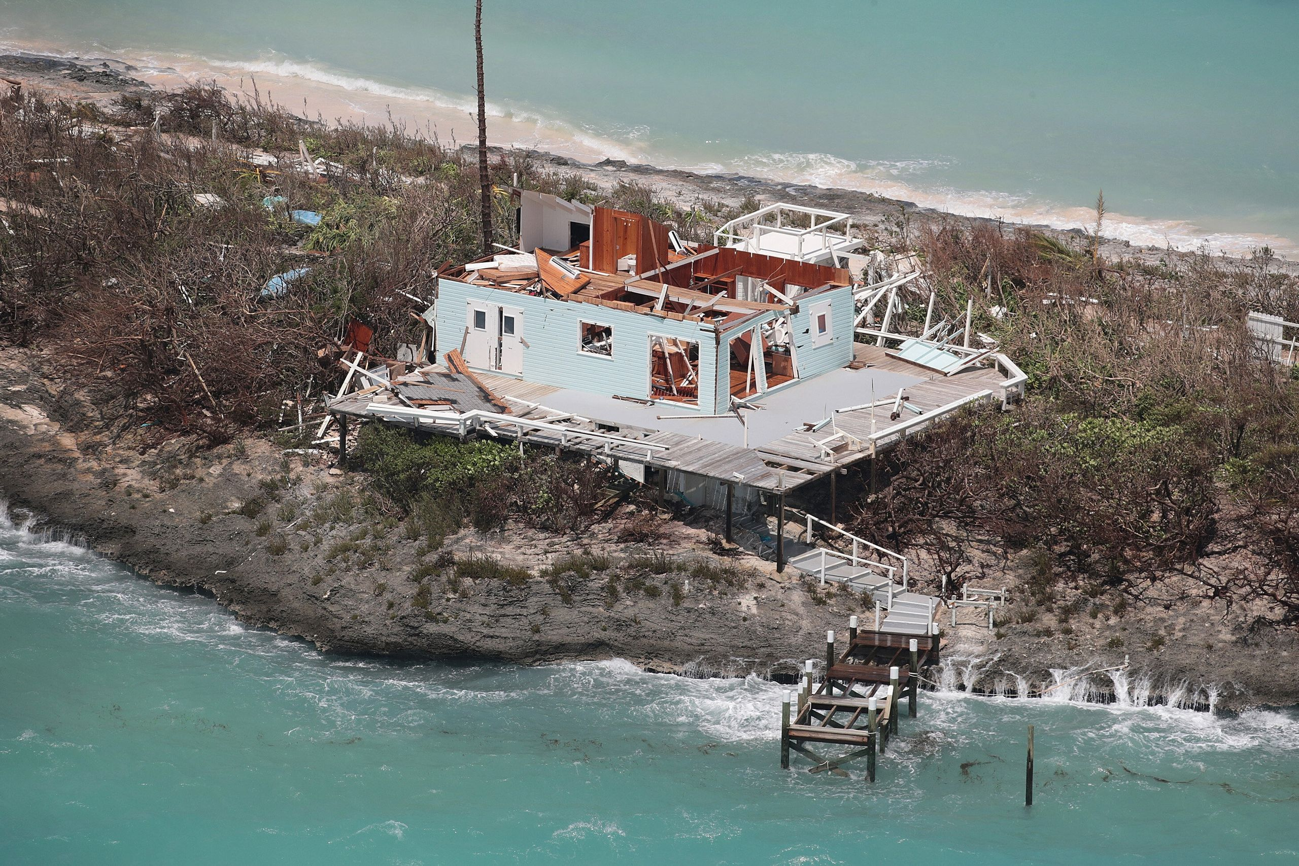 Westlake Legal Group 5d716168240000ee17762b07 Dramatic Images Show Hurricane Dorian Destruction From Above