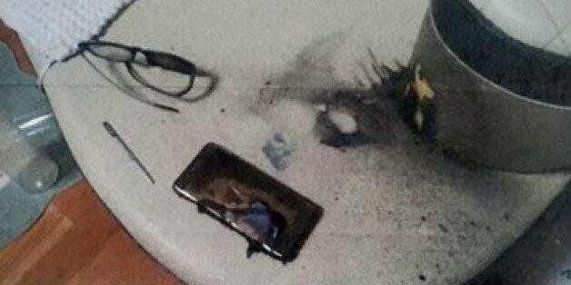 광주에서 노트7 폭발로 20대 남성이 화상을