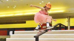 프로 대회에 출전한 8살짜리 스케이트 보더가 모두를 놀라게
