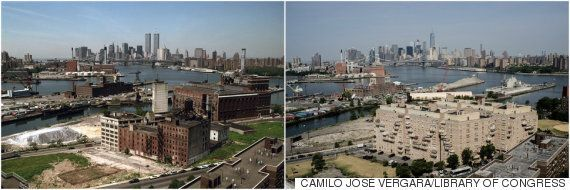 세계무역센터 쌍둥이 빌딩이 뉴욕을 규정했음을 보여주는 타임랩스