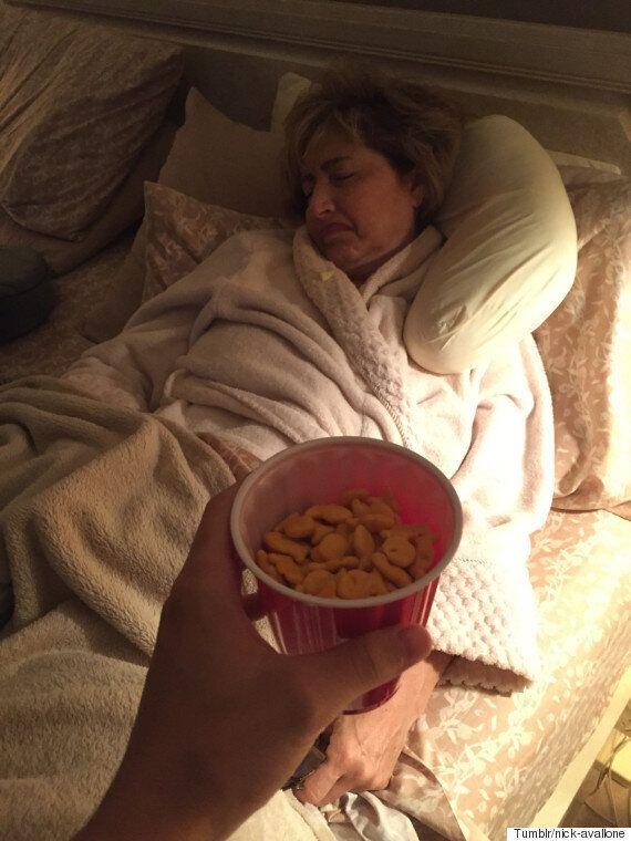 이 엄마는 아들에게 심부름만 시키면 잠이
