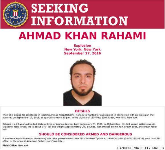 맨해튼 폭발 사고의 용의자로 지목된 아프간 출신 미국인이